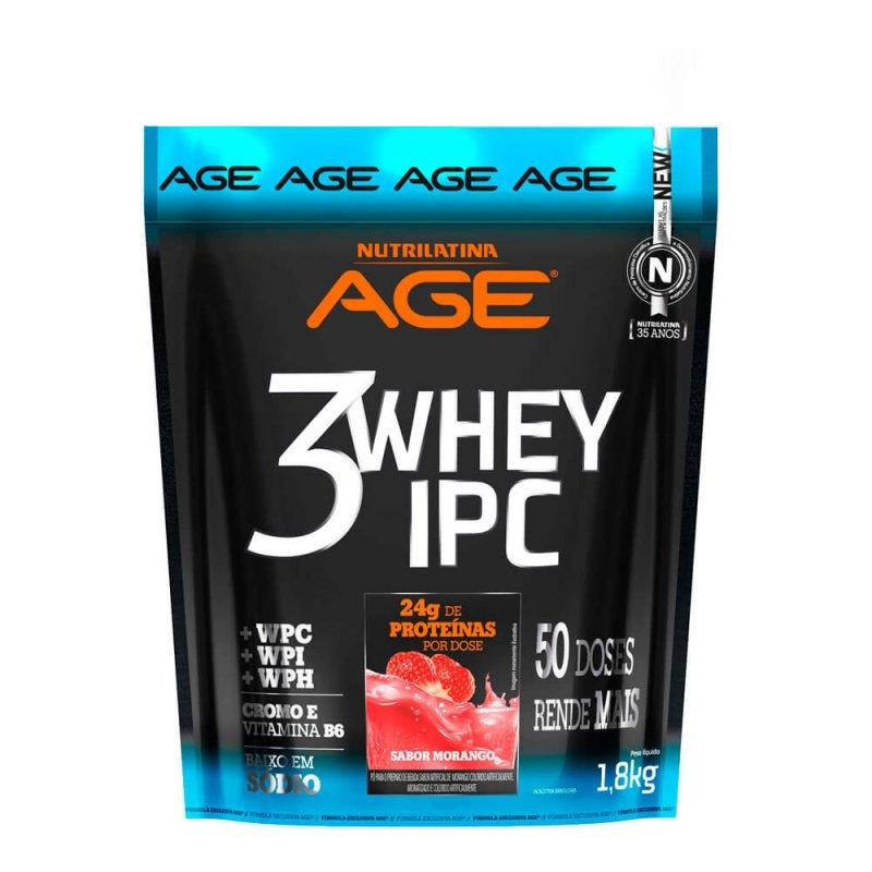 3 Whey IPC Nutrilatina Age - 1,8kg - Morango