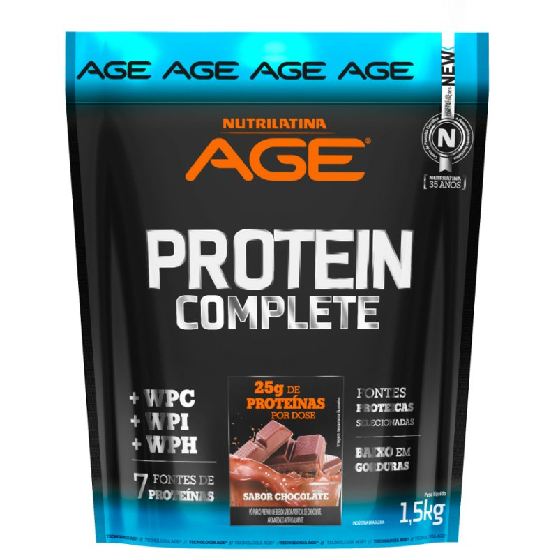 Protein Complete Nutrilatina Age - 1,5kg - Chocolate