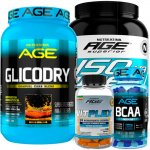 KIT Vitplex AGE, Glicodry AGE, Aminoacid BCAA AGE 1000mg, Whey ISO V3 AGE