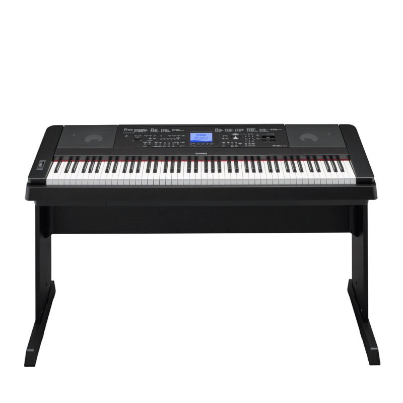 Piano Digital Yamaha Dgx-660b Preto 88 Teclas Com Estante 192 Notas D