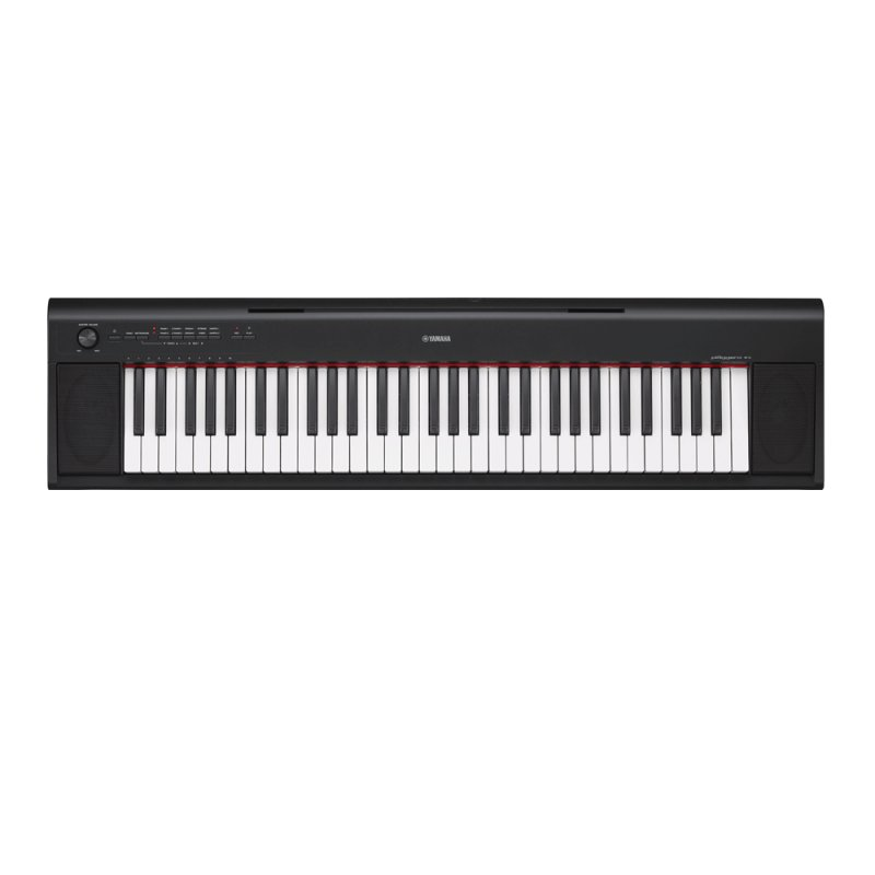 Piano Digital Yamaha Np-12b Piaggero Preto Com Usb 61 Teclas Sensitiv