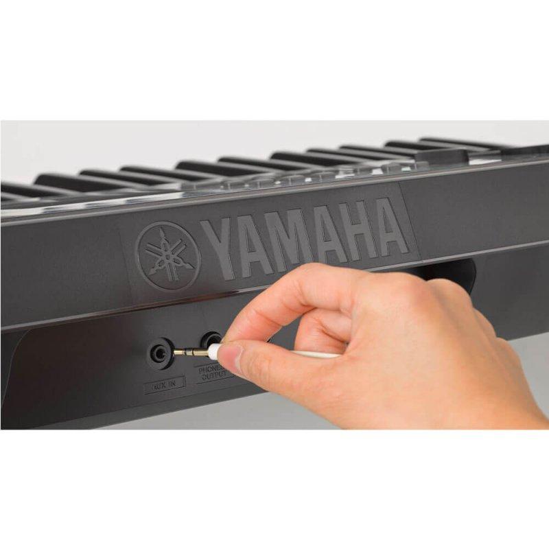 Teclado Yamaha YPT-255 Preto com 61 Teclas, 5 Oitavas e 385 Sons
