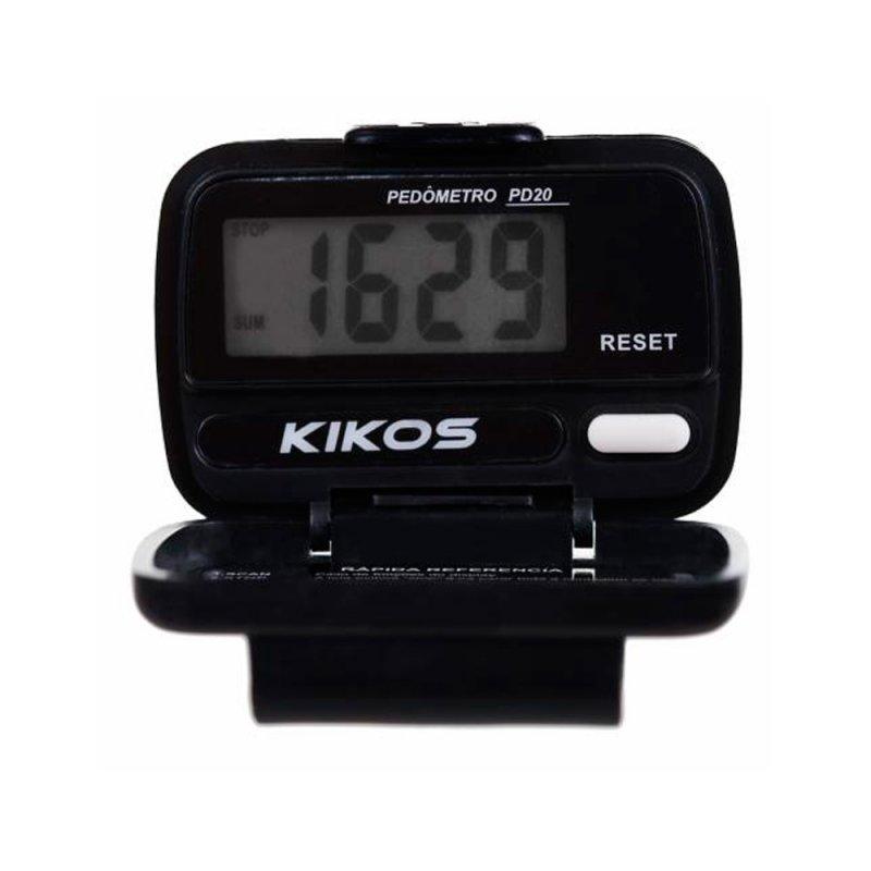 Pedômetro Kikos PD20 Preto com Display Digital em LCD