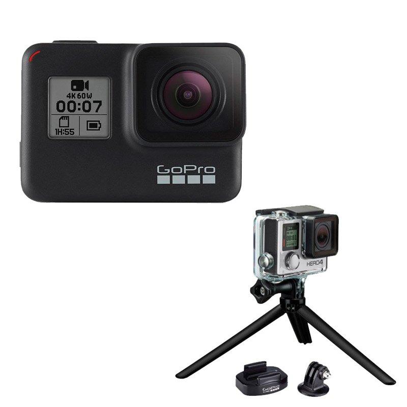 Câmera Digital GoPro Hero 7 Black 12MP 4K60 Wi-Fi Bluetooth à Prova D`Água Tripé e Suporte