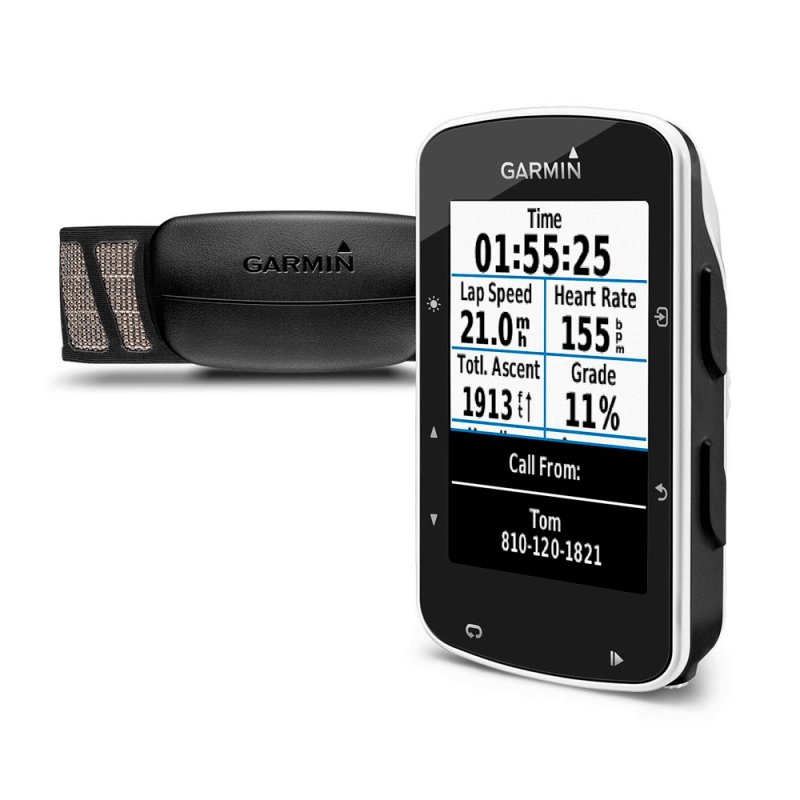 Ciclocomputador Edge 520 Bundle Garmin GPS Strava Monitor de Frequência Cardíaca 2,3 ´ Preto