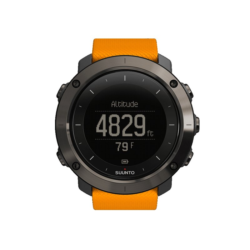 Relógio Suunto Traverse Amber com Monitor Cardíaco e GPS Esportivo
