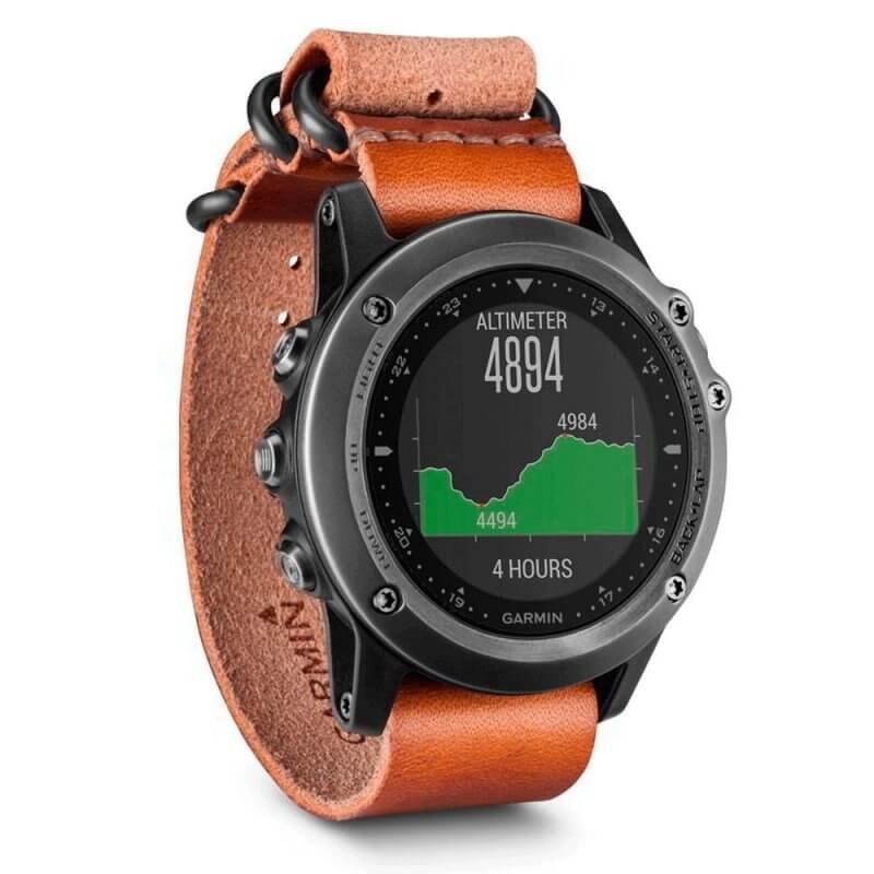 Relógio Multiesporte Garmin Fenix 3 Safira Nato com GPS GLONASS e Resistência à Água