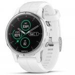 Relógio Multiesportivo Garmin Fenix 5S Plus Safira Branco com Monitor Cardíaco no Pulso