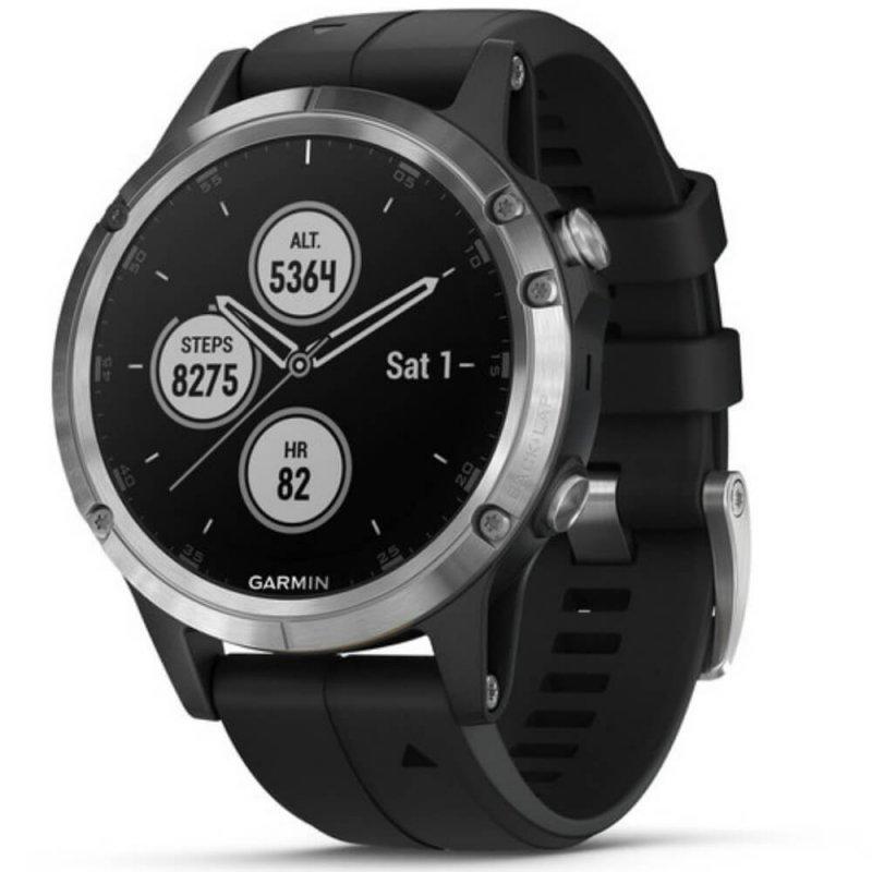 a0e3ccc064e Relógio Multiesportivo Garmin Fenix 5S Plus Preto e Prata com Monitor  Cardíaco no Pulso
