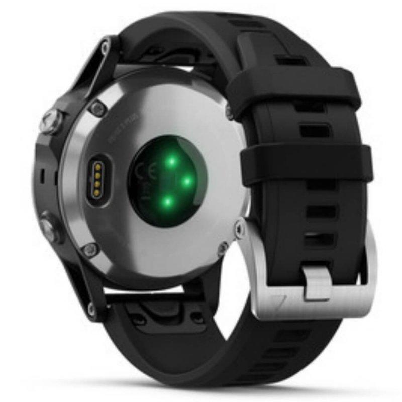 Relógio Multiesportivo Garmin Fenix 5S Plus Preto e Prata com Monitor  Cardíaco no Pulso 45af1075b2