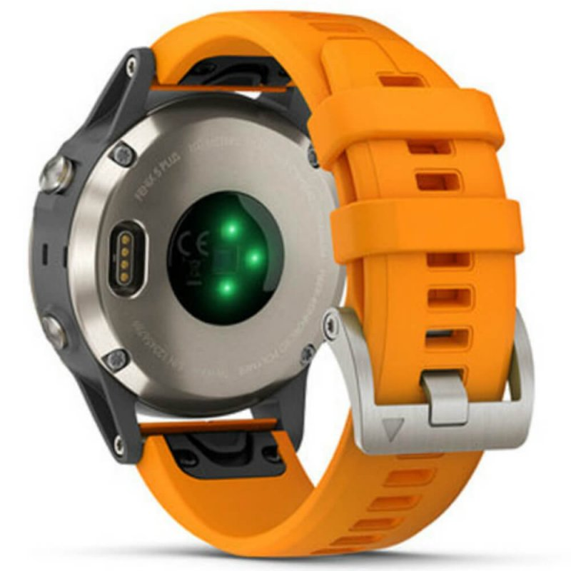 c47500a31df ... Relógio Multiesportivo Garmin Fenix 5 Plus Safira Laranja com Monitor  Cardíaco no Pulso