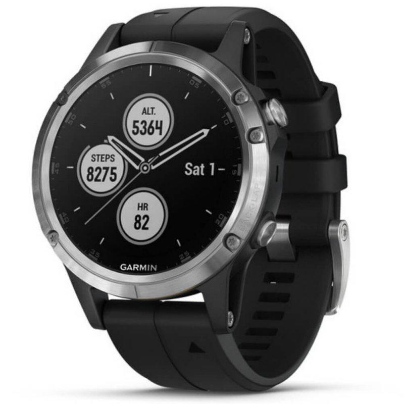 7060adc86d8 Relógio Multiesportivo Garmin Fenix 5 Plus Preto e Prata com Monitor  Cardíaco no Pulso