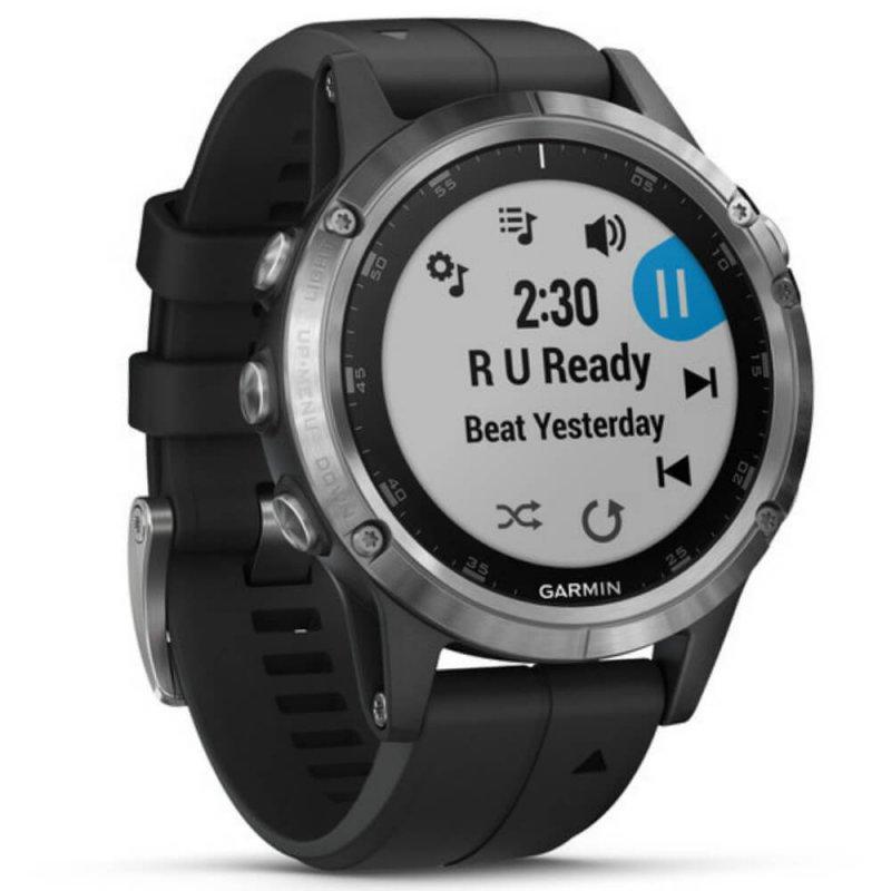 Relógio Multiesportivo Garmin Fenix 5 Plus Safira Preto e Prata com Monitor  Cardíaco no Pulso aac399d902