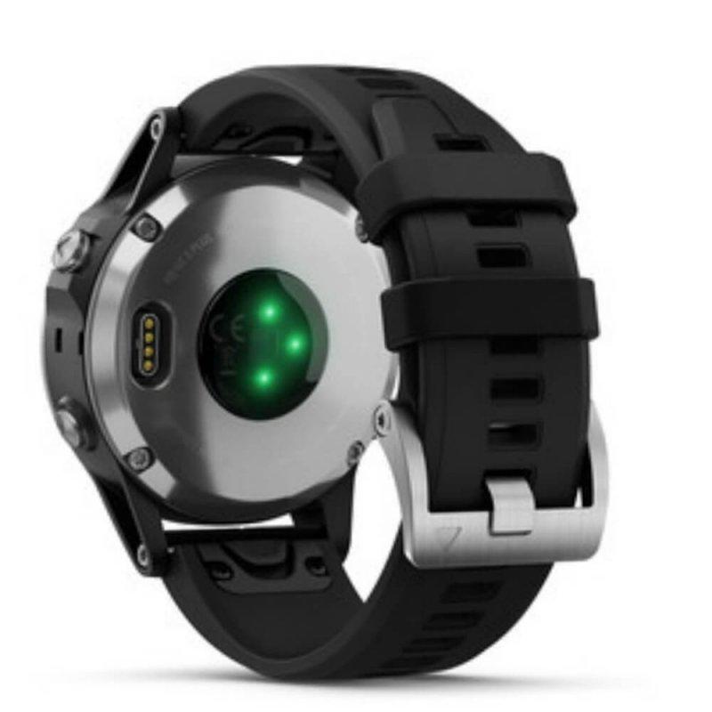 876810147b1 Relógio Multiesportivo Garmin Fenix 5 Plus Preto e Prata com Monitor  Cardíaco no Pulso