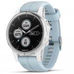 Relógio Multiesportivo Garmin Fenix 5S Plus Azul Claro com Monitor Cardíaco no Pulso