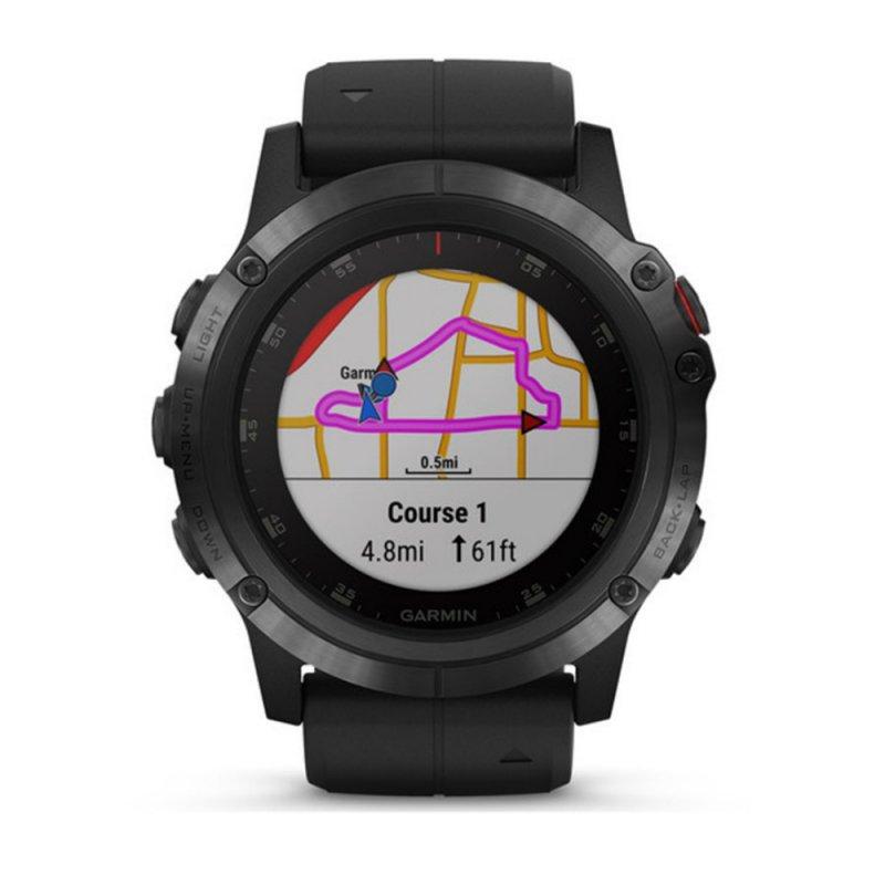 d1569b821bb Relógio Multiesportivo Garmin Fenix 5X Plus Safira Preto com Monitor  Cardíaco no Pulso