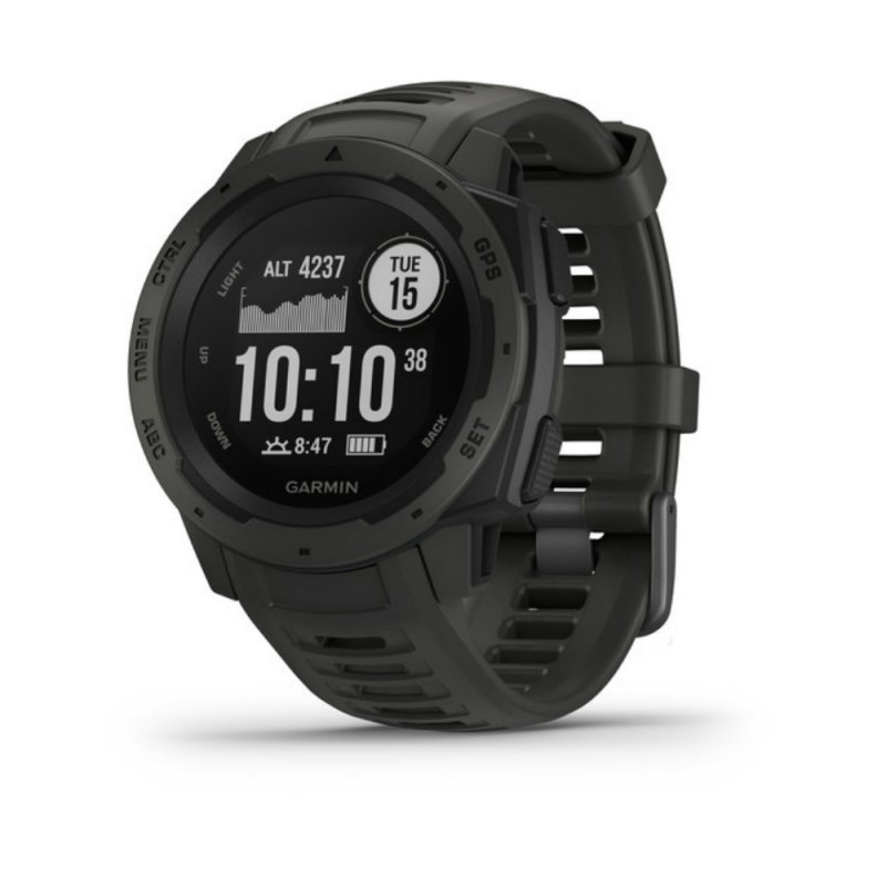 Relógio Multiesportivo Garmin Instinct Preto Com Monitor Cardíaco E G