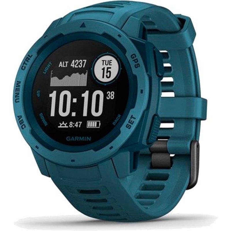 Relógio Multiesportivo Garmin Instinct Azul Com Monitor Cardíaco E Gp