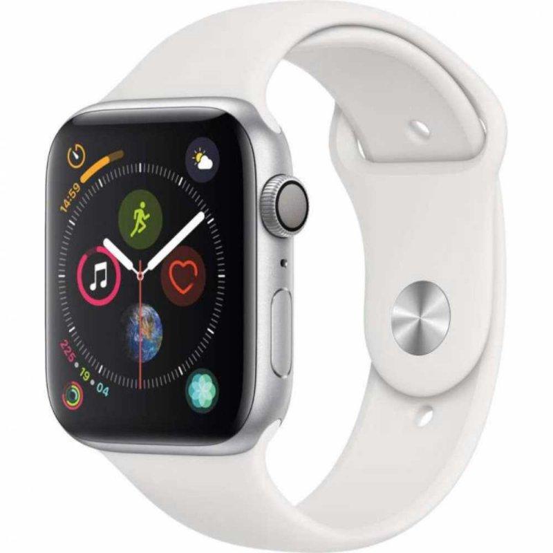 Apple Watch Series 4 Gps 44 Mm Alumínio Prata Pulseira Esportiva Bran