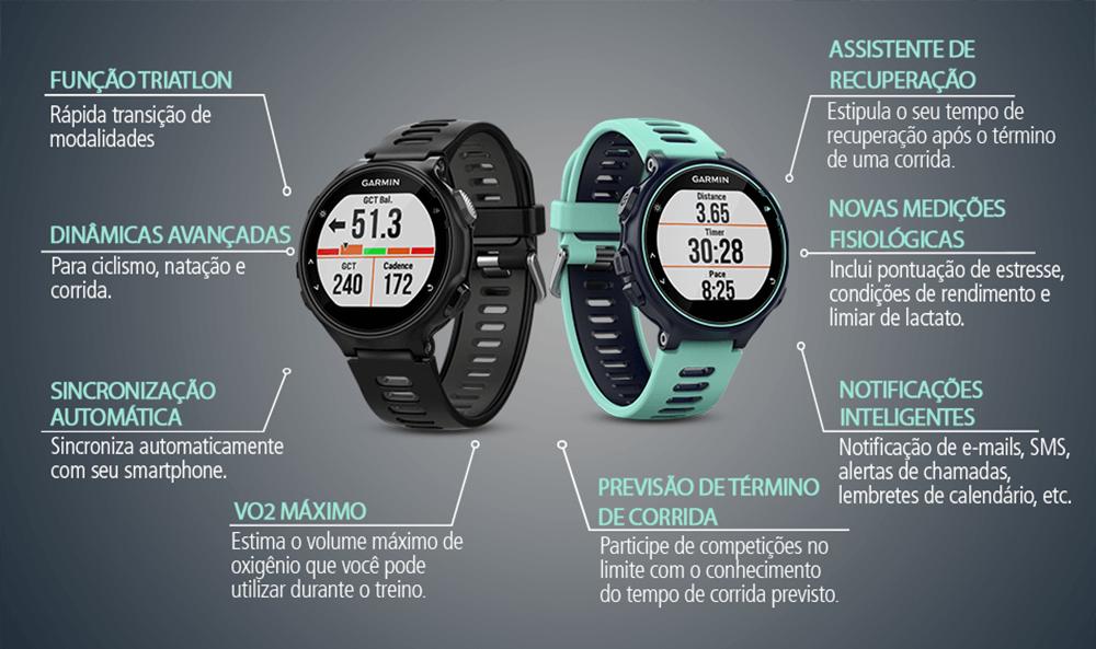 30c1170a9fd Relógio Esportivo Garmin Forerunner 735XT - Compre Online