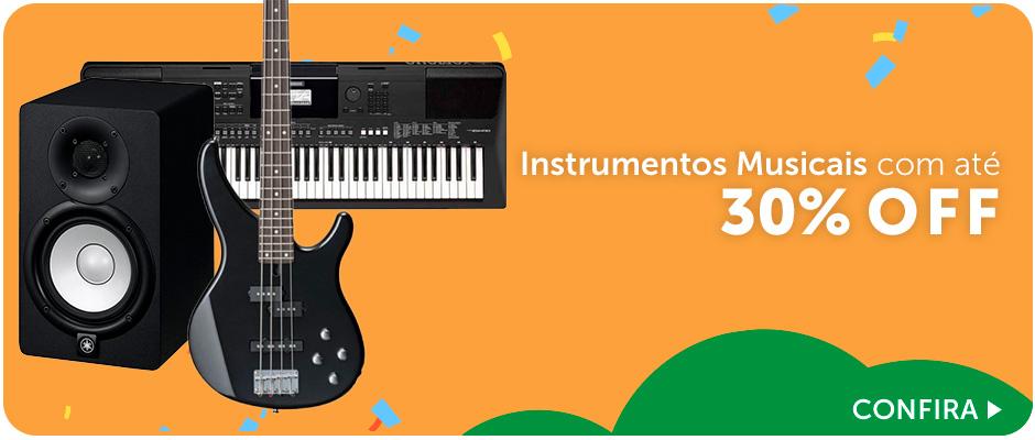 Instrumentos Musicais com até 30% OFF