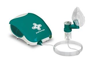 Nebulizador / Inalador Mecânico Pneumático Soniclear Pulmomais A Jato de Ar Bivolt Verde e Branco