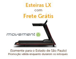 Esteiras Movement XL com Frete Grátis para São Paulo