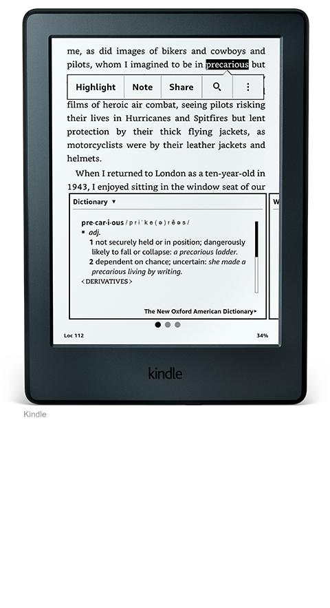 Dicionário E-Reader Kindle 8a Geração
