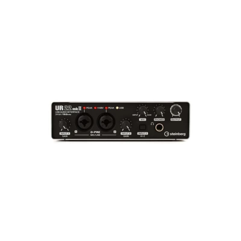 Steinberg Preto Interface de Audio UR22MKll Placa de Som HS5 Interface Home Studio