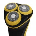 Barbeador Gama Italy 3 Lâminas GSH886 Sport USB Preto e Amarelo