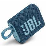 Caixa de Som Bluetooth JBL GO3 IPX7 a Prova de Água Autonomia de 5 Horas Azul