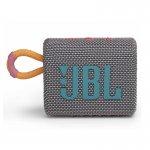 Caixa de Som Bluetooth JBL GO3 IPX7 a Prova de Água Autonomia de 5 Horas Cinza