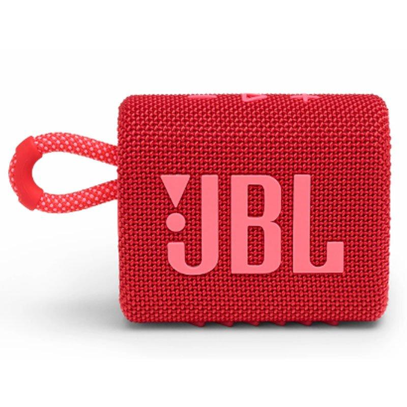 Caixa de Som Portátil Bluetooth JBL GO3 IPX7 a Prova de Água Autonomia de 5 Horas Vermelha