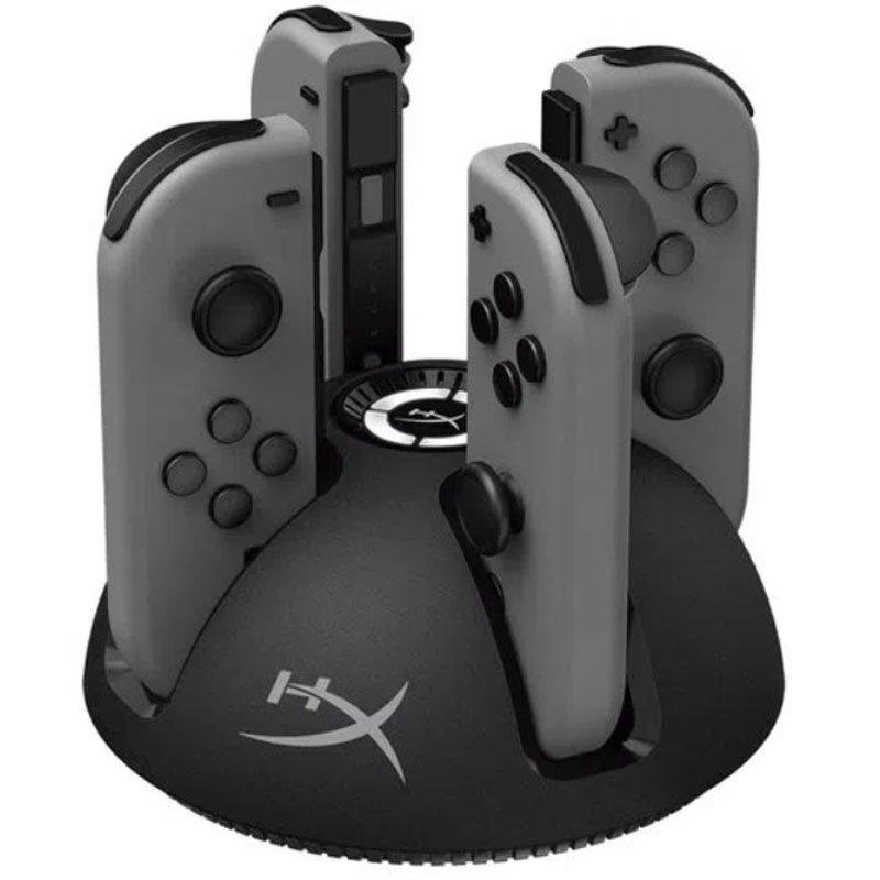 Carregador HyperX ChargePlay Quad para Nintendo Switch 4 portas Preto