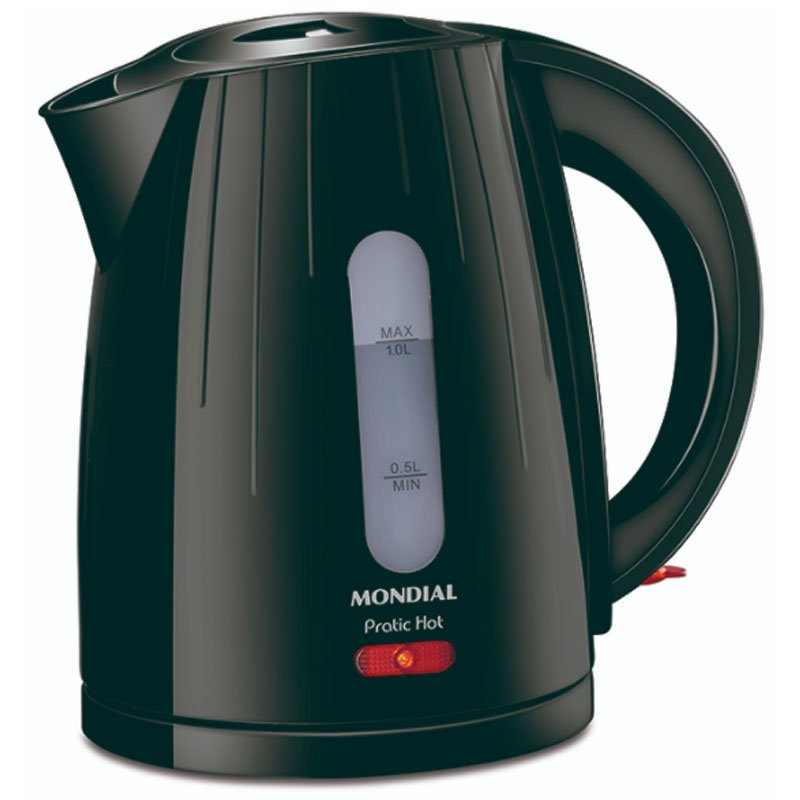 Chaleira elétrica Mondial Pratic Hot 1 litro Preta CE 07 220v