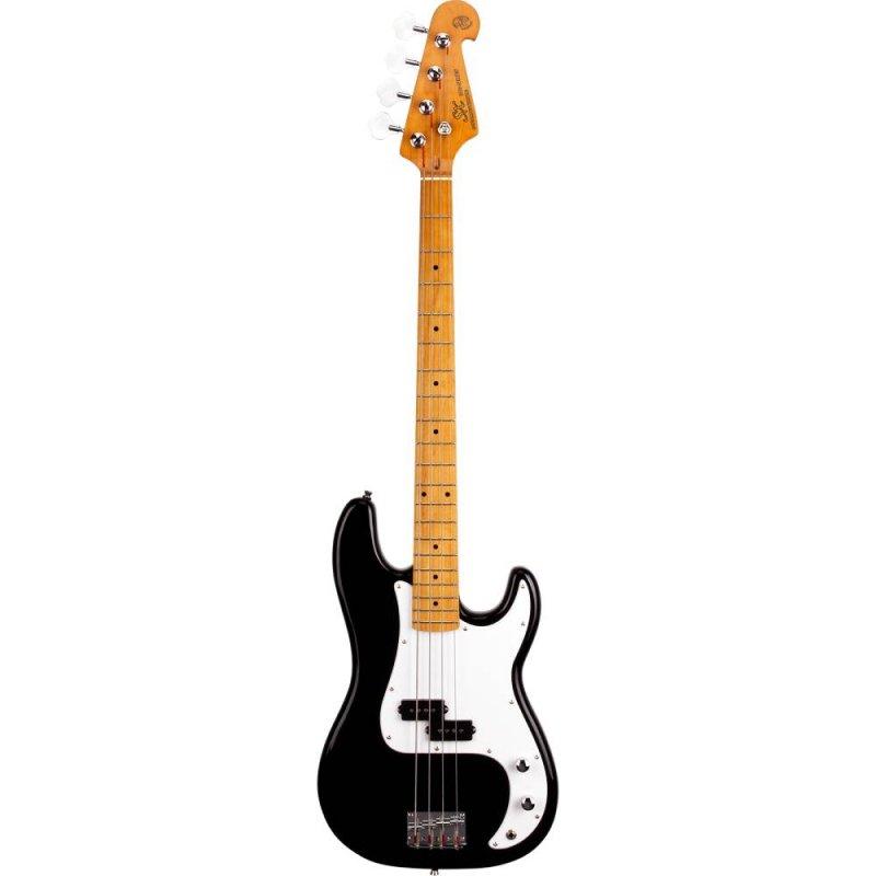 Contrabaixo Precision Bass SPB57/BK Tradicional Vintage Plus 4 Cordas Ferragem Cromada Preto