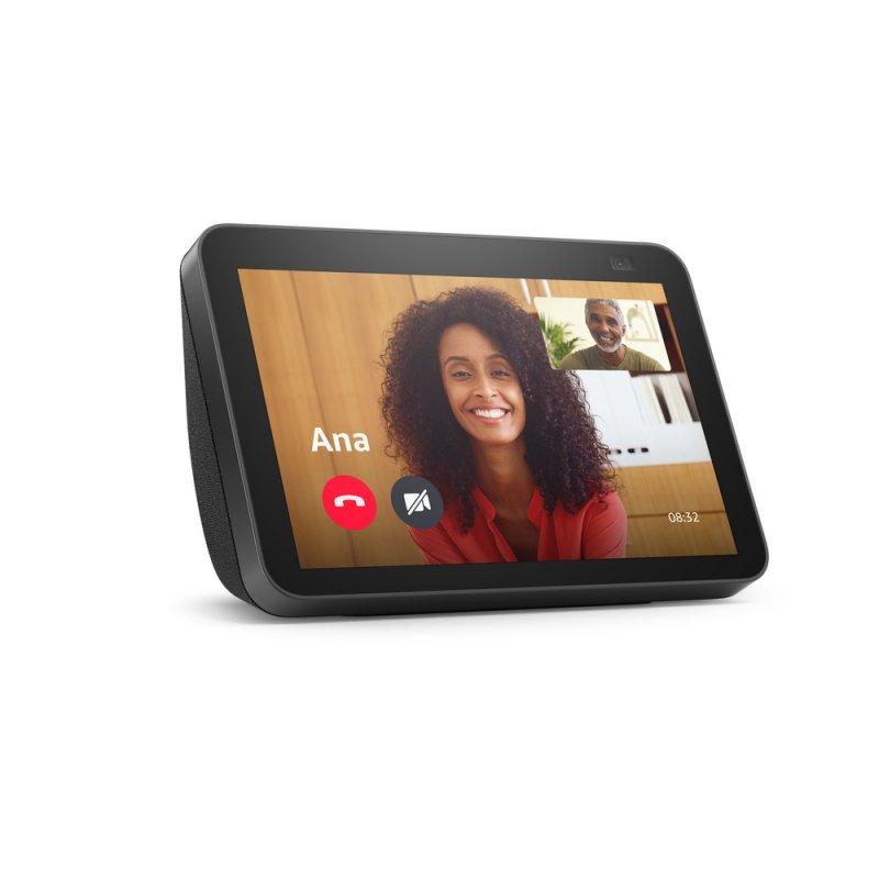 Novo Echo Show 8 (2ª geração, versão 2021) Preta | Smart Display HD de 8 com Alexa e câmera de 13