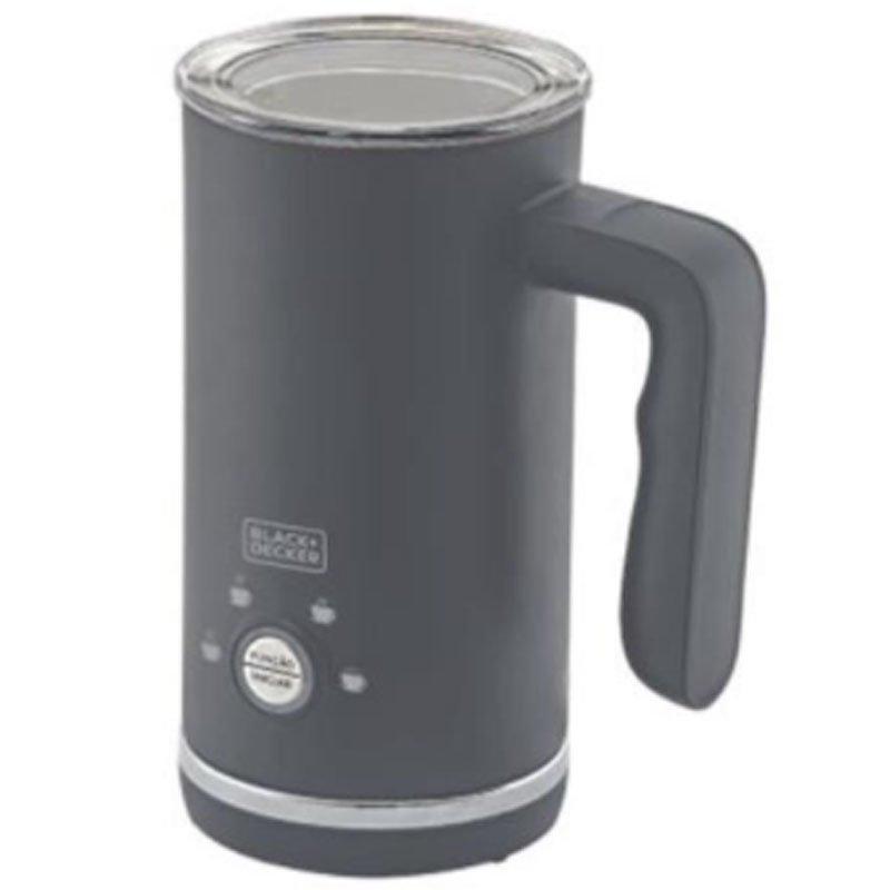 Espumador de Leite em Inox Black e Decker Gourmand Gris 4 Funções 220V Preto