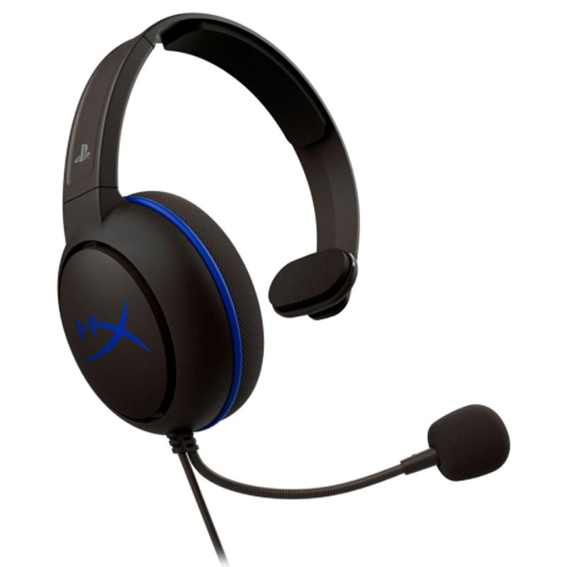 Headset Gamer HyperX CloudX Chat Xbox PS4 Preto e Azul