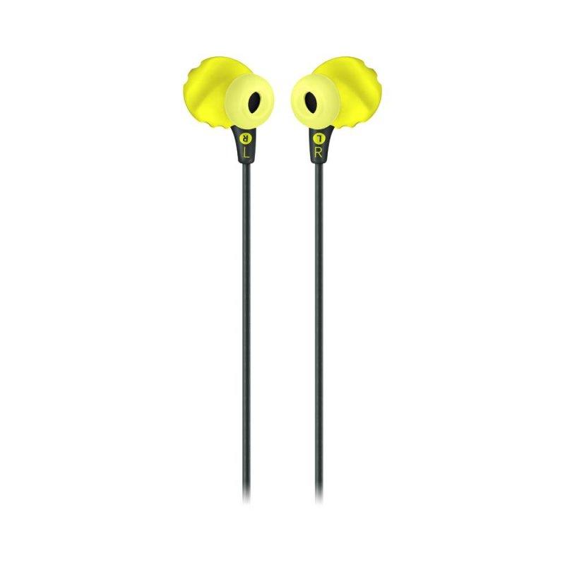 Fone de ouvido JBL Endurance RUN In-ear com fio a prova de suor Preto com Amarelo