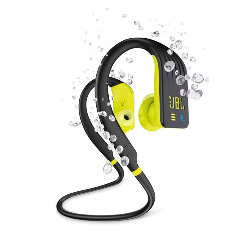 Fone de ouvido JBL Endurance DIVE In-Ear Bluetooth Esportivo a prova de água Preto e Amarelo