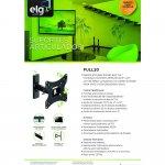 Suporte Articulado FULL20 ELG de Parede para TVs LED Plasma LCD 3D Curva de 15 a 43 Até 30KG