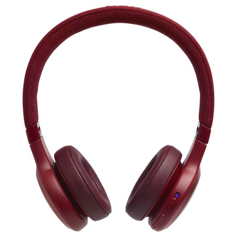 Headphone JBL Live 400BT Bluetooth sem fio até 24 horas de bateria Vermelho