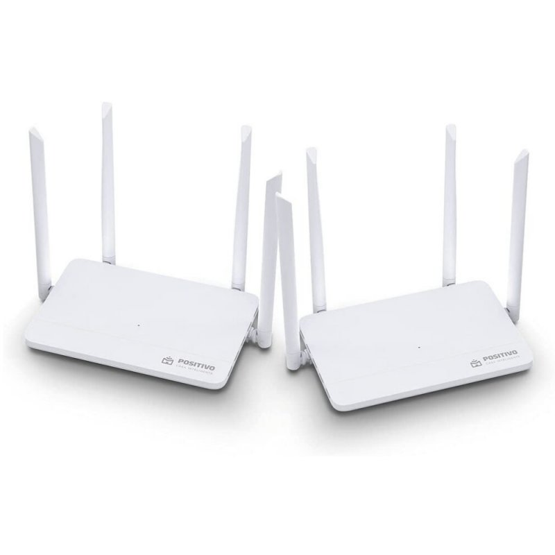 Kit Smart Roteador Mesh Wi-Fi Fast Positivo Casa Inteligente