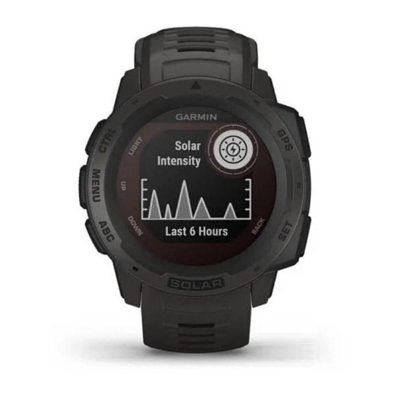 Monitor Cardíaco de Pulso Garmin Instinct Solar com GPS Grafite