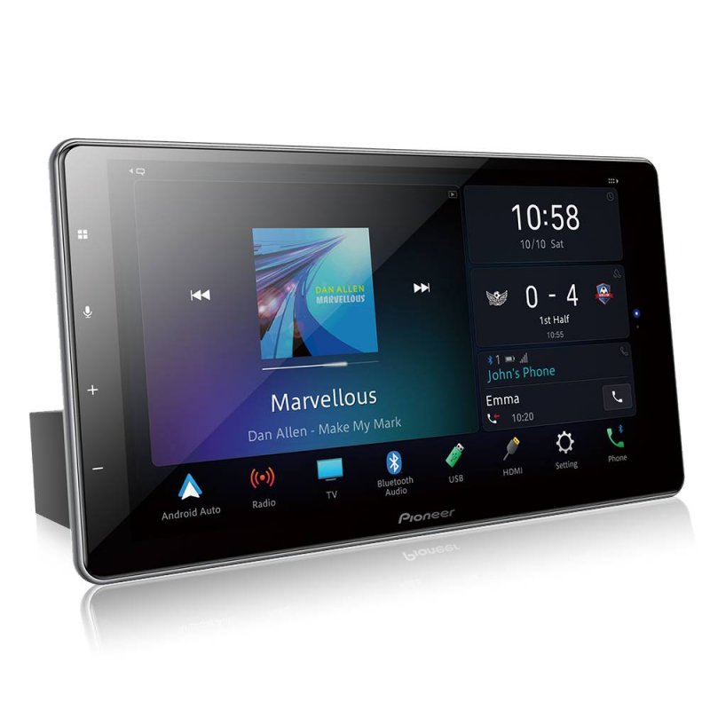 Multimídia Pioneer Receiver Tela 9 HD Capacitiva DMH-ZF9380TV Bluetooth TV Integrada HDMI Preto