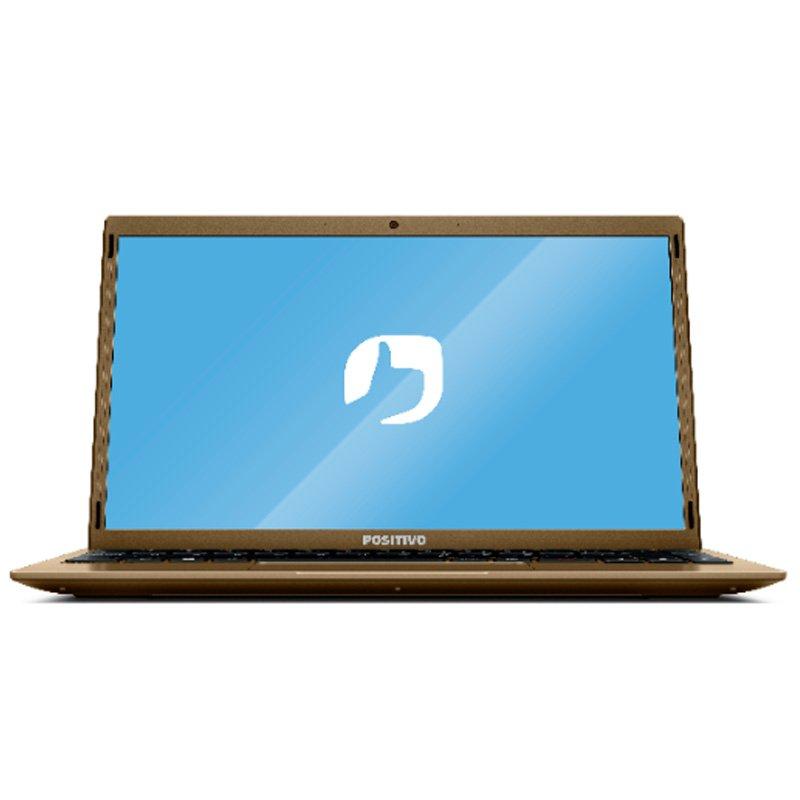 Notebook Positivo Motion Q464C 64GB Flash 4GB Microsoft 365 Windows 10 Dourado