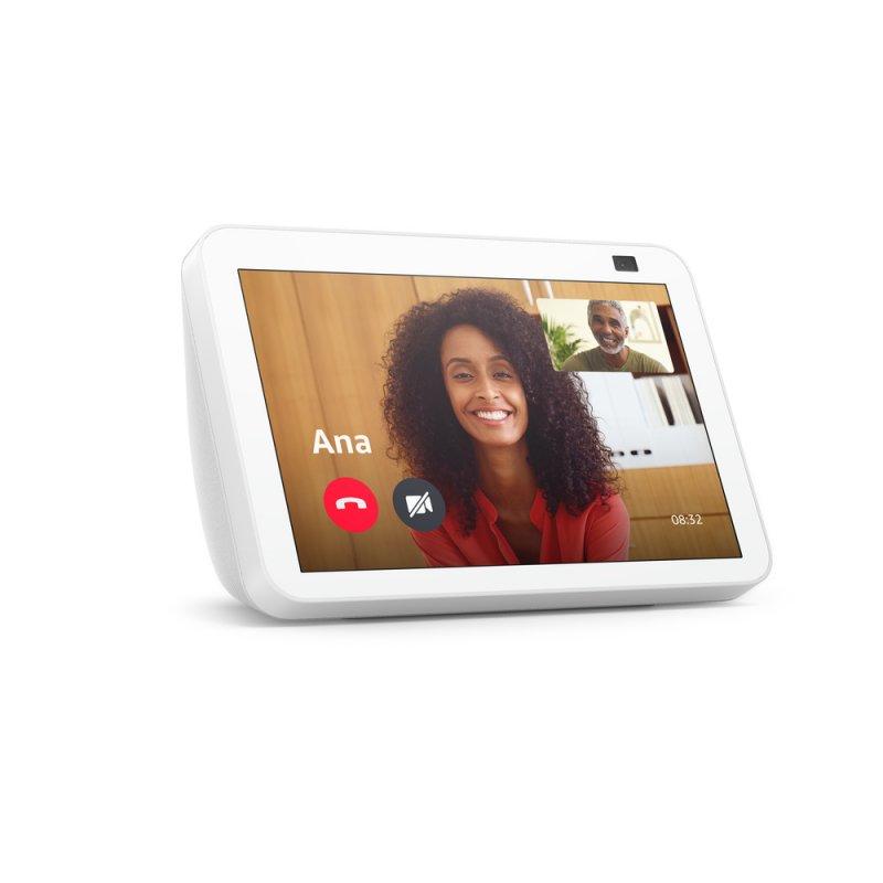Novo Echo Show 8 (2ª geração, versão 2021) Branca | Smart Display HD de 8 com Alexa e câmera de 13