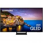 Smart TV Samsung 55 QLED 4K 55Q70A Modo Game Processador IA Som em Movimento Virtual Alexa
