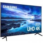 Samsung Smart 55 TV UHD 4K 55AU7700, Processador Crystal 4K, Tela sem limites, Visual Livre de Cabo
